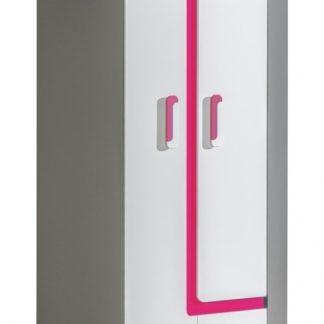 Rohová skříň APETTITA 2, antracit/růžová