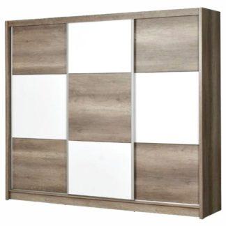 Šatní skříň CORDOBA 250, country gray/bílá