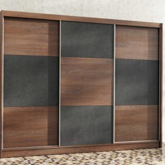 Šatní skříň CORDOBA 250, dub sterling/beton