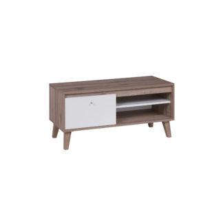 OVIEDO televizní stolek 100 cm, dub san remo tmavý/bílá