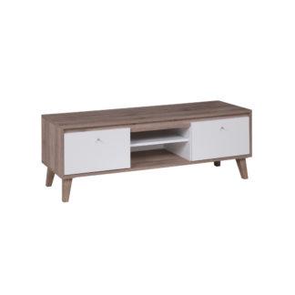 OVIEDO televizní stolek 135 cm, dub san remo tmavý/bílá