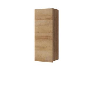 CALABRINI vysoká závěsná skříňka, dub zlatý