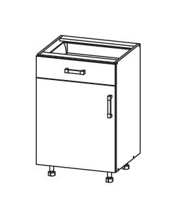 FIORE dolní skříňka D1S 50 SMARTBOX, korpus congo, dvířka bílá supermat