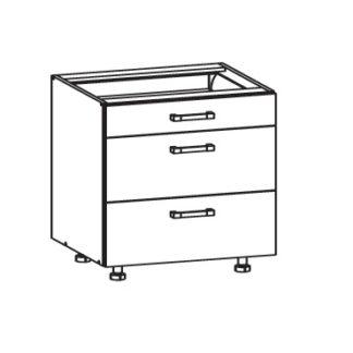 FIORE dolní skříňka D3S 80 SMARTBOX, korpus congo, dvířka bílá supermat