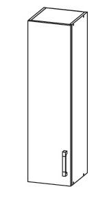 FIORE horní skříňka G30/95, korpus wenge, dvířka bílá supermat