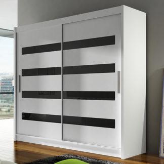 Šatní skříň BEGA XI, bílá/zrcadlo