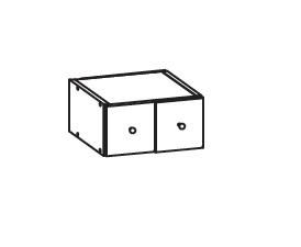 FIORE horní zásuvka GS30/14, korpus congo, dvířka bílá supermat
