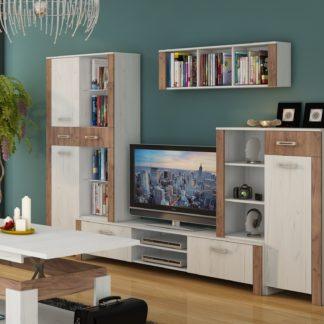 Obývací stěna HUGO 1, craft bílý/craft tobaco