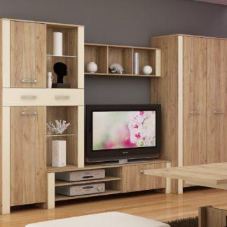Obývací stěna HUGO 2, craft zlatý/krém