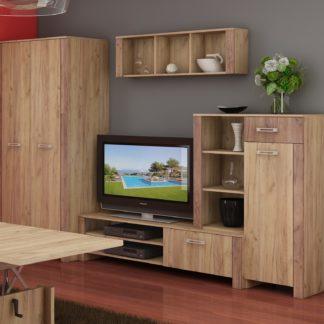 Obývací stěna HUGO 3, craft zlatý/craft tobaco