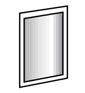 Zrcadlo 919 SUSAN., bílá