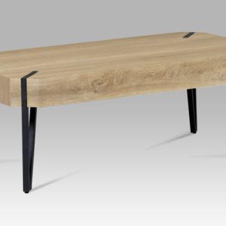 Konferenční stolek AHG-241 OAK2, dub bělený/černý mat