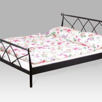 Kovová dvoulůžková postel 180x200 BED-1907 BK, černá