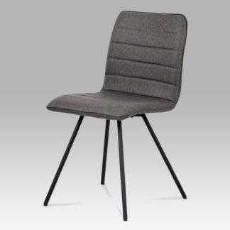 Jídelní židle CT-111 GREY2, šedá látka/černý kov