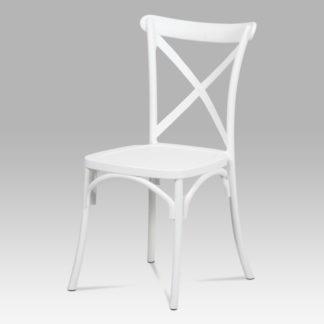 Jídelní židle CT-830 WT, bílý plast
