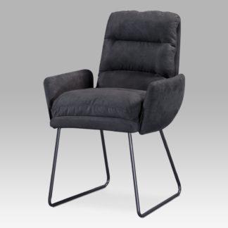 Jídelní židle DCH-256 GREY3, šedá látka/kov šedý