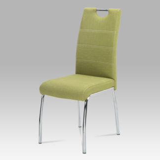 Jídelní židle HC-486 GRN2, zelená látka/chrom