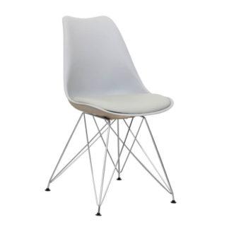 Jídelní židle METAL NEW, studená šedá