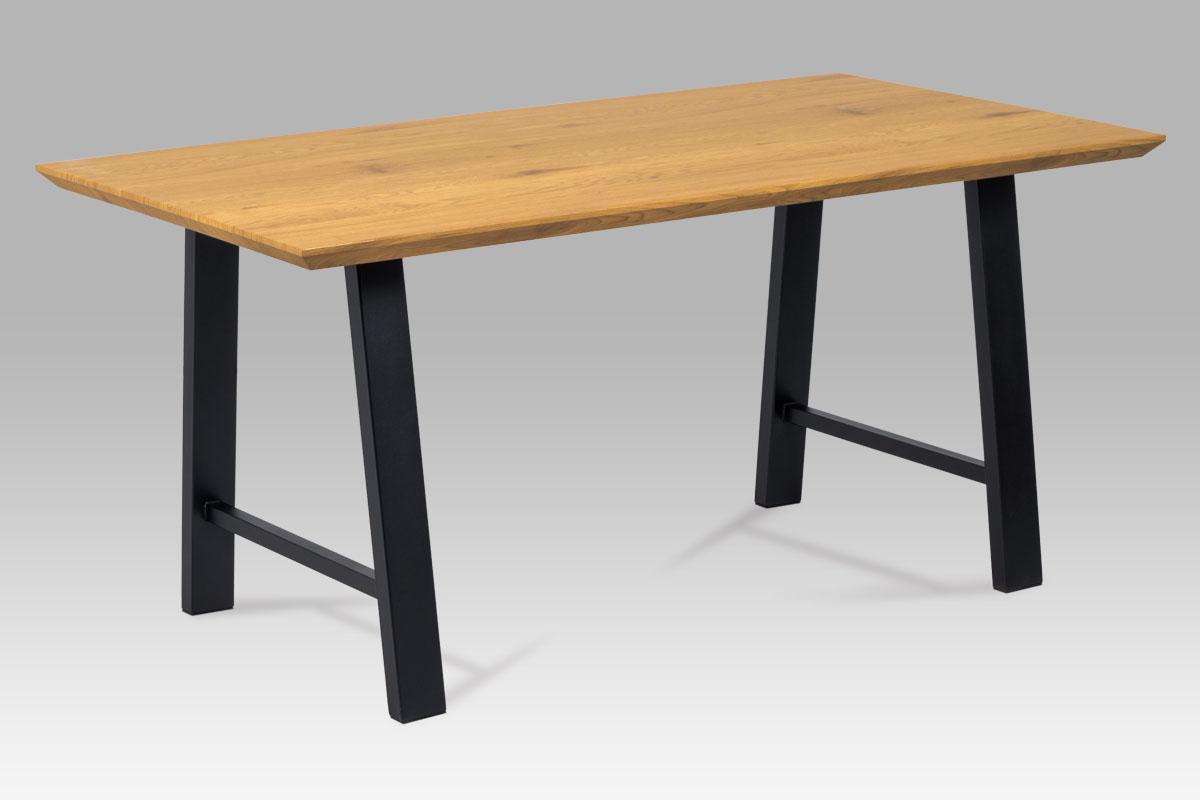 Jídelní stůl 160x90 cm HT-715 OAK, dub/kov