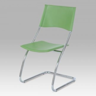 Židle chrom / zelená koženka B161 GRN Autronic