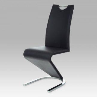 Jídelní židle koženka černá / chrom HC-790 BK Autronic