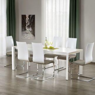 Jídelní stůl rozkládací STANFORD XL bílý Halmar