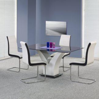 Jídelní stůl VESPER černá / bílá Halmar
