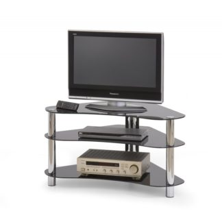 TV stolek RTV-13 černé sklo Halmar