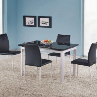 Skleněný rozkládací stůl ALSTON černý Halmar