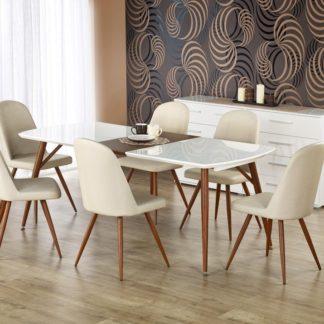 Jídelní stůl rozkládací RICHARD bílý/třešeň Halmar
