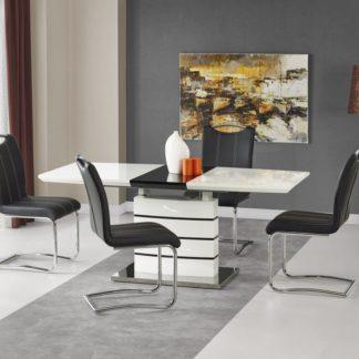 Jídelní stůl rozkládací NORD bílá / černá Halmar