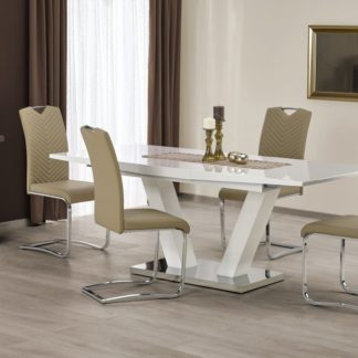 Jídelní stůl rozkládací VISION bílá Halmar