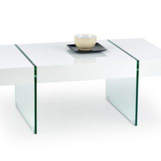 Konferenční stolek AMBER bílá lesk Halmar