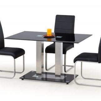 Jídelní stůl skleněný WALTER 2 černý Halmar