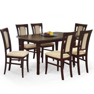 Jídelní stůl rozkládací FRYDERYK 160/200 cm tmavý ořech Halmar
