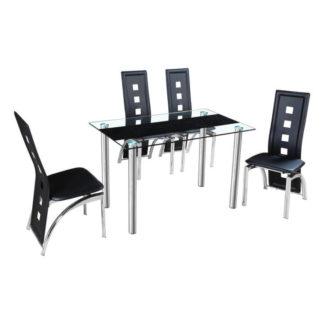 Jídelní stůl ESTER ocel / sklo Tempo Kondela