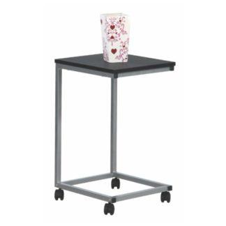 Příruční stolek MANNY černá / stříbrná Tempo Kondela