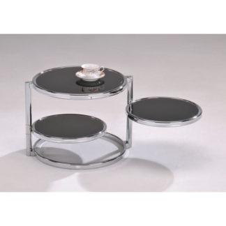 Konferenční stolek MOIRA chrom / černé sklo Tempo Kondela