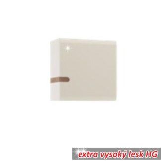 Závěsná skříňka LYNATET TYP 65 bílá vysoký lesk /dub sonoma tmavý truflový Tempo Kondela