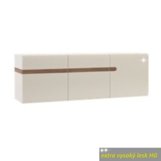 Závěsná skříňka LYNATET Typ 67 bílá lesk / dub sonoma tmavý truflový Tempo Kondela