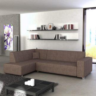 Rohová sedací souprava, L. rozklad/úložný prostor, šenil Boss 07 hnědý, COLLI 0000062537 Tempo Kondela