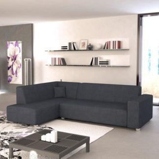 Rohová sedací souprava, L. rozklad/úložný prostor, šenil Boss 12 černo šedý, COLLI 0000062538 Tempo Kondela