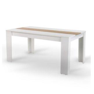 Jídelní stůl 140x80 RADIM bílá / dub sonoma Tempo Kondela