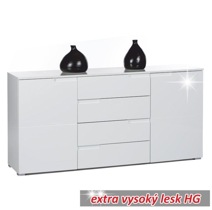 Komoda SPICE 3 extra  bílá vysoký lesk Tempo Kondela