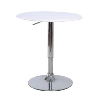 Barový stůl otočný BRANY bílá / chrom Tempo Kondela