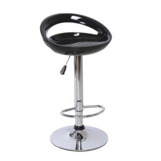 Barová židle, černá / chrom, DONGO NOVE 0000138372 Tempo Kondela