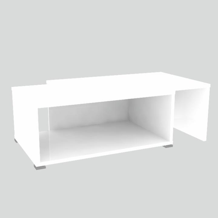 Konferenční rozkládací stolek DRON bílá / bílá Tempo Kondela