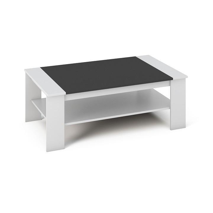 Konferenční stolek BAKER bílá / černá Tempo Kondela