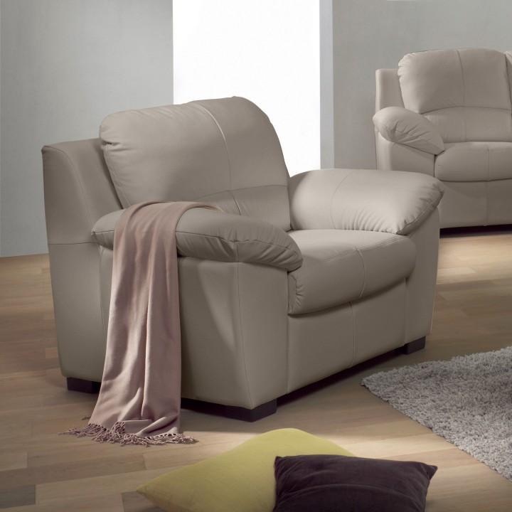 Kožená sedačka, Kůže pampas hellgrau M9010, DANILO 0000149634 Tempo Kondela
