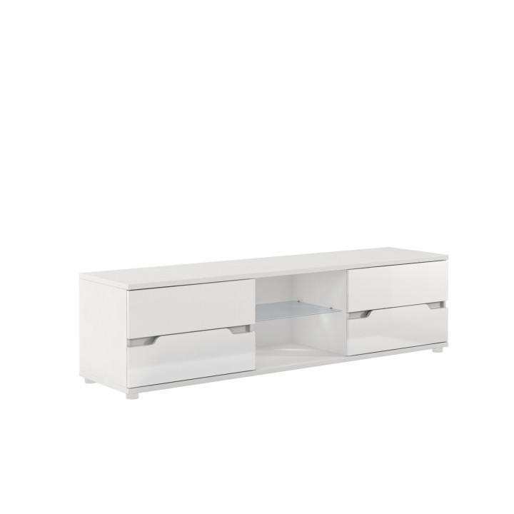 RTV stolek ADONIS AS 30 bílá / bílá extra vysoký lesk Tempo Kondela